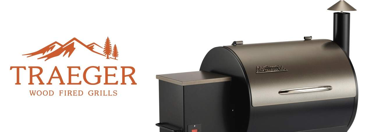 Traeger Grill with Traeger logo