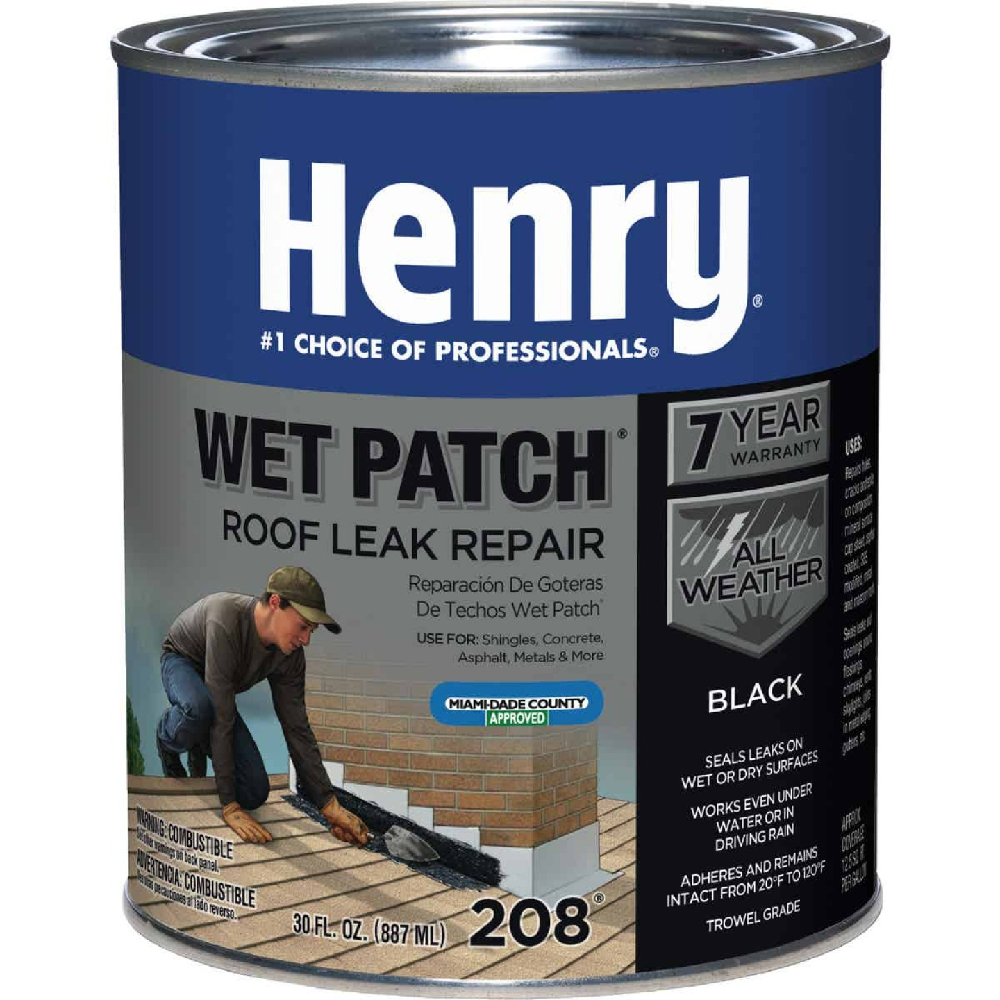 Henry Wet Patch 30 Oz. Roof Cement and Patching Sealant Image 1