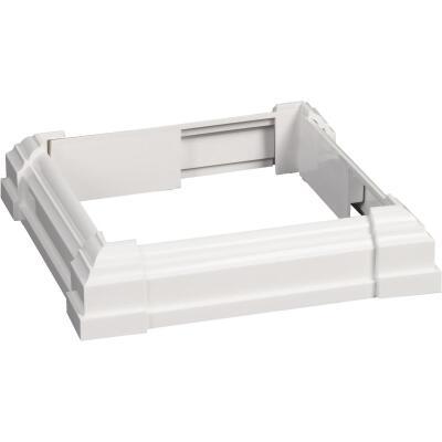 Beechdale 6 In. W. x 6 In. L. PVC White Post Trim Collar
