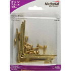 National Catalog V115 3 In. x 3/4 In. Brass Steel Corner Brace (4-Count) Image 2
