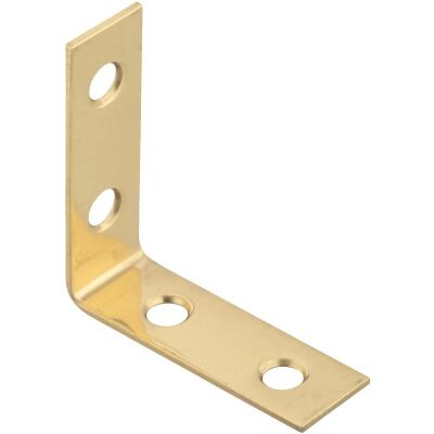 National Catalog V1875 1-1/2 In. x 5/8 In. Solid Brass Corner Brace