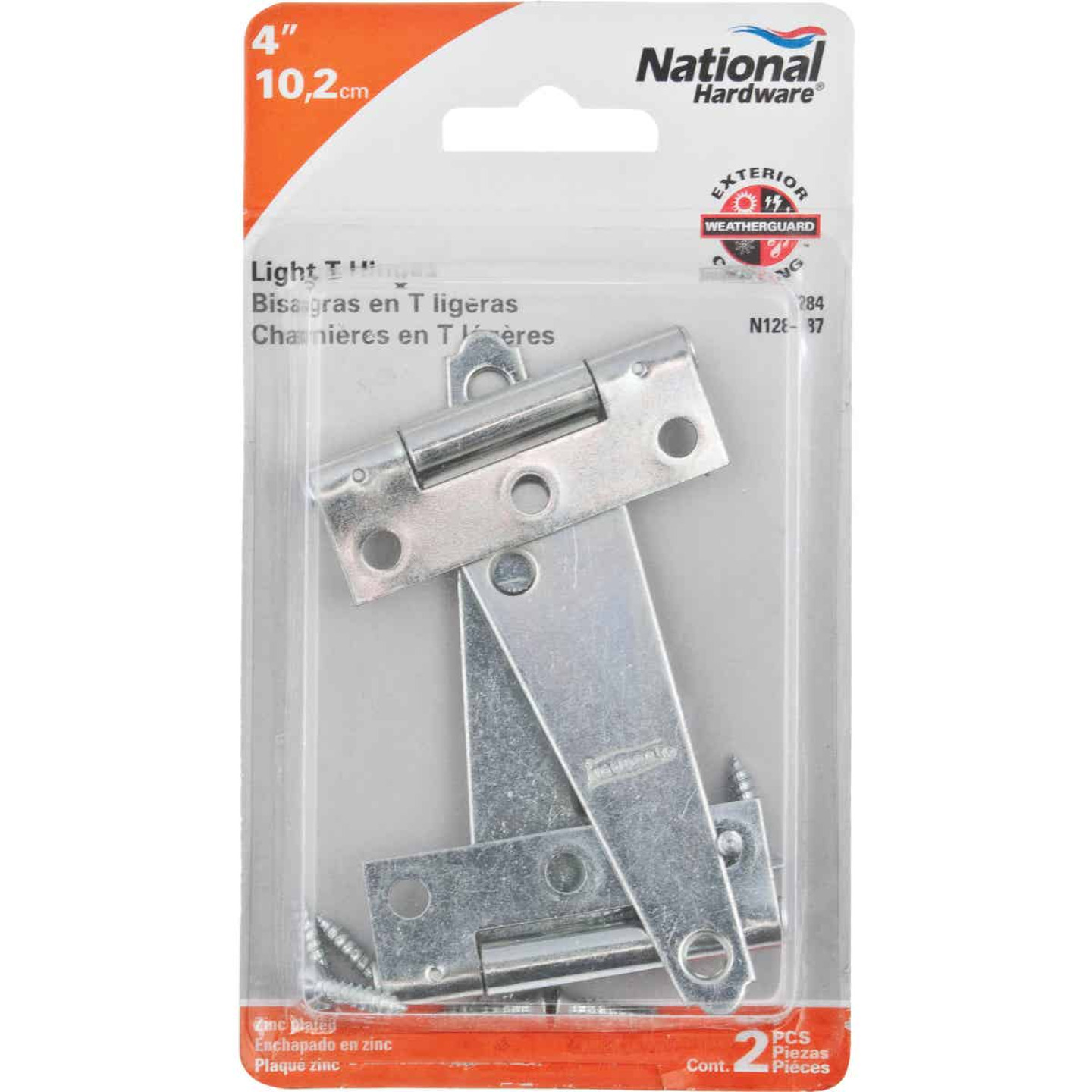 National 4 In. Light Duty T-Hinge With Screw (2 Count) Image 2