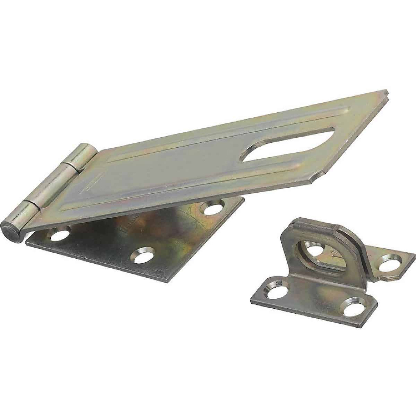 National 6 In. Zinc Non-Swivel Safety Hasp Image 1