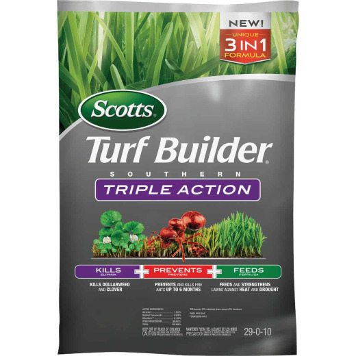 Scotts Turf Builder Southern Triple Action 26.84 Lb. 8000 Sq. Ft. Lawn Fertilizer with Weed Killer
